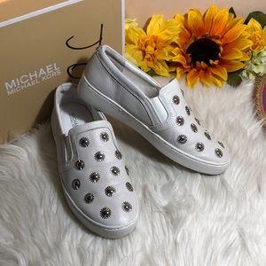 Michael Kors Studded Leather Slip-On Sneaker 7.5